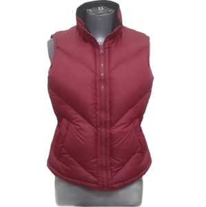 Puffy Red and Black Reversible Down Vest S